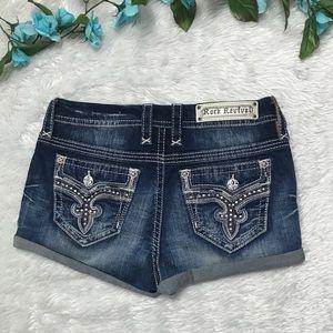 Rock Revival Blue Washed Jeans Shorts